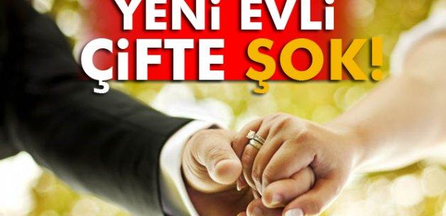 Yeni evli çifte hırsızlık şoku!