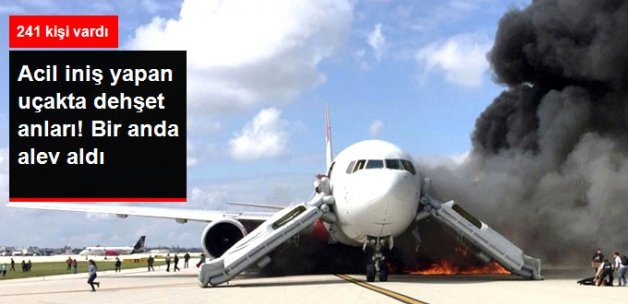 Yolcu Uçağında Dehşet! Acil İniş Yaptı, Bir Anda Alev Aldı