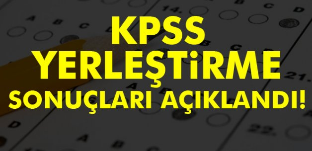 2016 KPSS yerleştirme sonuçları açıklandı