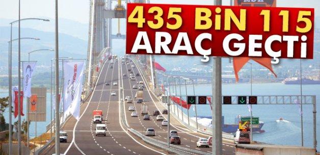 435 bin 115 araç geçiş yaptı
