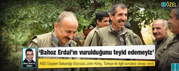 ABD: Bahoz Erdal'ın vurulduğunu teyid edemeyiz