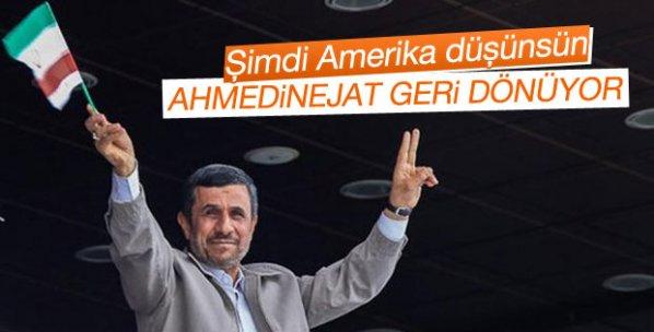 Ahmedinejad siyasete geri dönüyor iddiası