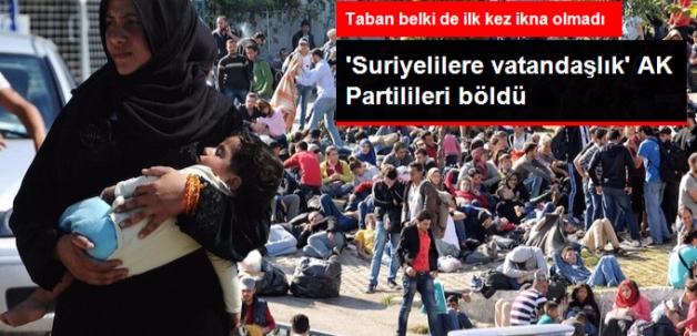 AK Partililerin İtirazı Var: Savaştan Kaçan Suriyelilere Vatandaşlık Doğru Değil