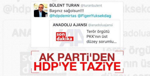 AK Partili vekilden HDP'ye ironik başsağlığı mesajı