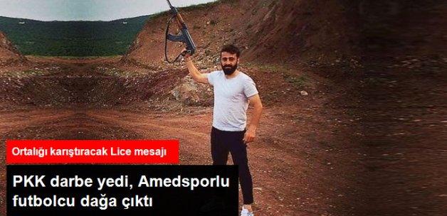 Amesporlu Futbolcu, Operasyonların Sona Erdiği Lice'den Silahlı Fotoğraf Paylaştı