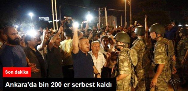 Ankara'da Bin 200 Er Serbest