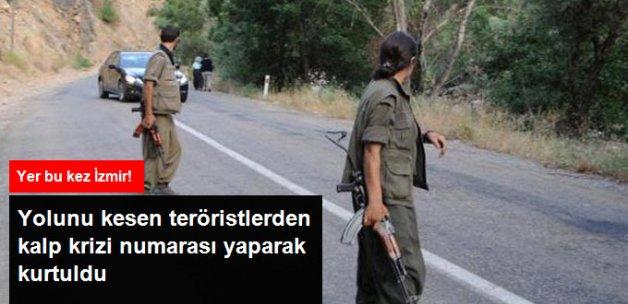 Araç Şoförü, Yolunu Kesen Teröristlerden Kalp Krizi Numarası Yaparak Kurtuldu