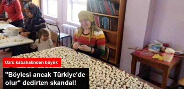 Ardahan'da Skandal! Kütüphane Mantı Üretim Yeri Oldu