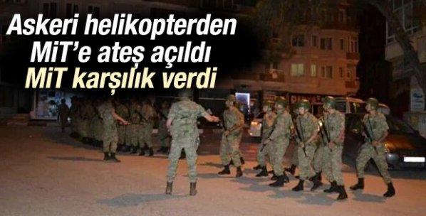 Askeri helikopterden MİT'e ateş açıldı