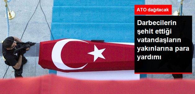 ATO'dan Ankara Emniyeti ile Demokrasi Şehitlerine Maddi Destek