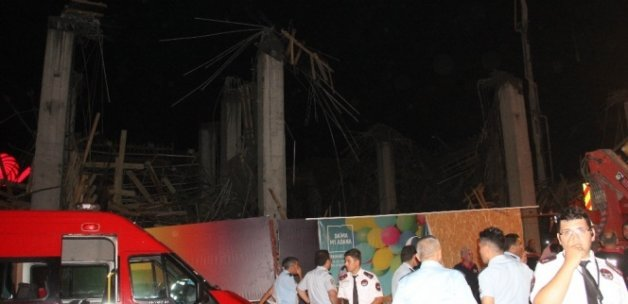 AVM'nin ek bina inşaatında göçük: 7 yaralı