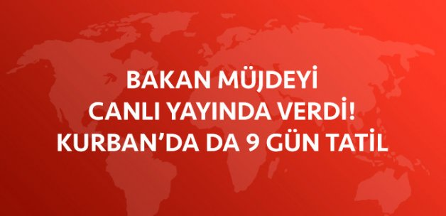 Bakan Nabi Avcı: Kurban Bayramı Tatili Muhtemelen 9 Gün Olacak
