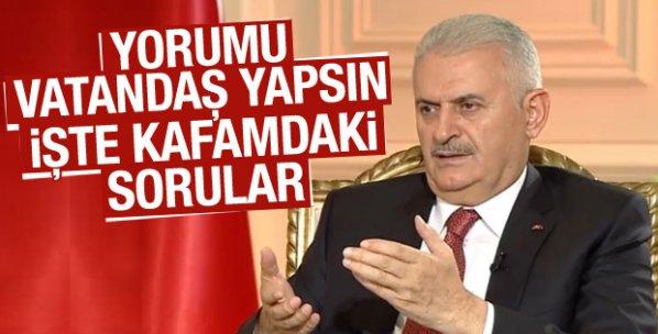 Başbakan Yıldırım 15 Temmuz gecesi yaşanılanları anlatıyor