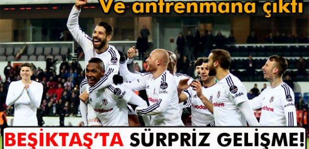 Beşiktaş'ta Sosa antrenmana çıktı