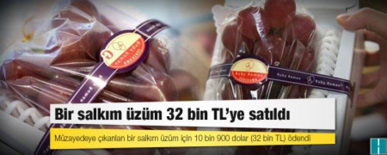 Bir salkım üzüm 32 bin TL'ye satıldı