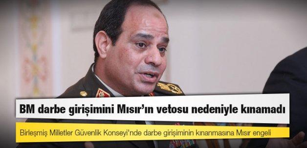 BM darbe girişimini Mısır'ın vetosu nedeniyle kınamadı