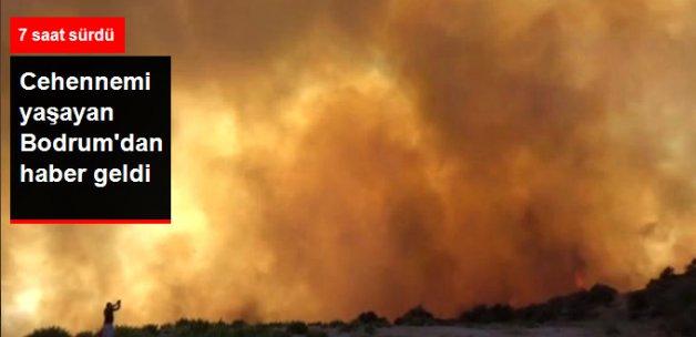Bodrum'daki Yangın 7 Saat Sonra Kontrol Altına Alınabildi