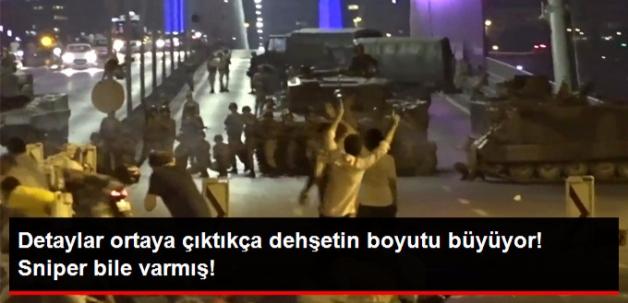 Boğaziçi Köprüsü'nde Darbeci Sniper'i Ölüm Saçmış