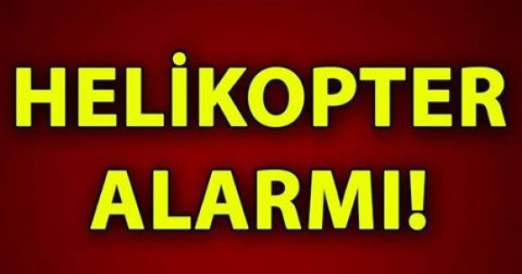 Bursa'da helikopter alarmı