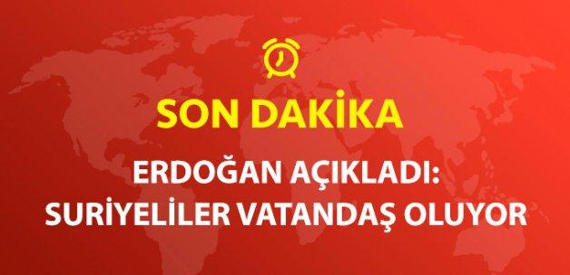 Cumhurbaşkanı Erdoğan'dan Suriyelilere Vatandaşlık Müjdesi