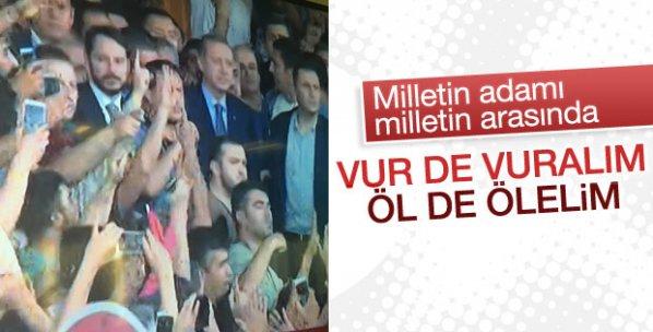 Cumhurbaşkanı Erdoğan halkın arasında
