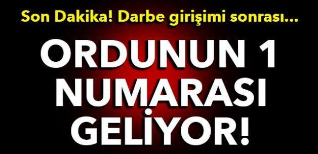 Darbe girişimi sonrası ordunun 1 numarası Türkiye'ye geliyor... Hemde bakın hangi ülkenin?
