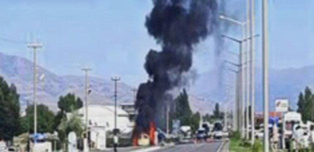 Erzincan'da polis ekiplerine bombalı saldırı