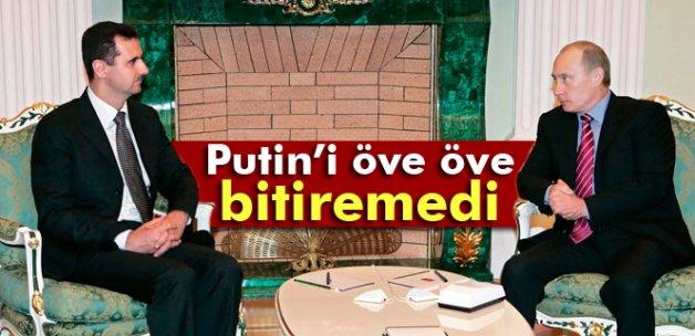 Esad, Putin'i öve öve bitiremedi