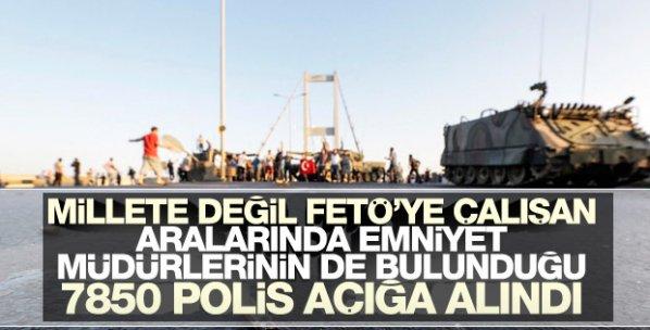 FETÖ'cü polislere operasyon: 7850 polis açığa alındı