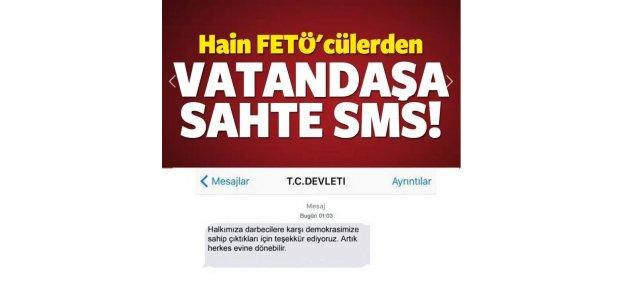 FETÖ'cülerden vatandaşa sahte SMS!