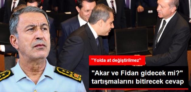 """""""Fidan ve Akar İstifa Etti mi"""" Sorusuna Erdoğan'dan Cevap: Yolda At Değiştirilmez"""