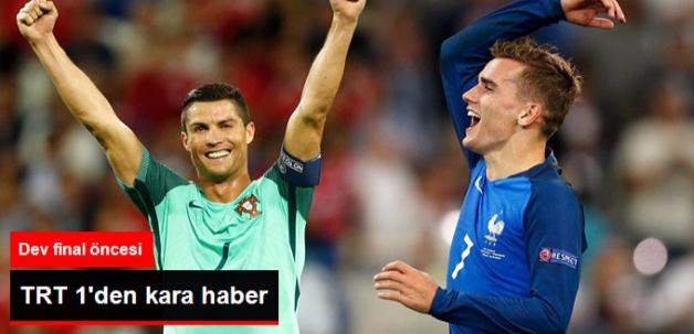 Fransa - Portekiz Maçı, TRT'de ......