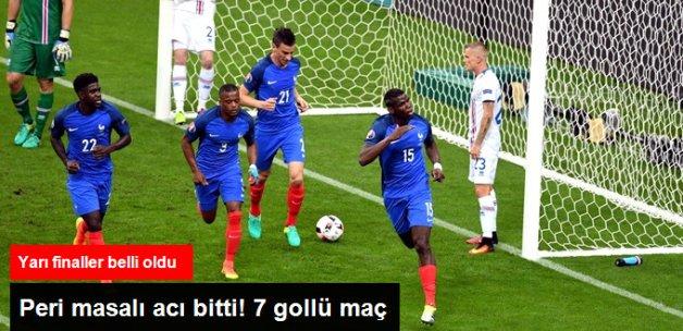 Fransa, İzlanda'yı 5-2 Yenerek Yarı Finalde Almanya'nın Rakibi Oldu