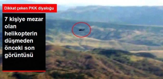 Giresun'daki Askeri Helikopterin Düşmeden Önceki Son Görüntüsü