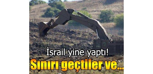 İsrail yine Golan Tepeleri'nde hendek kazmaya başladı
