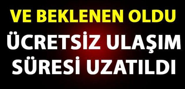 İSTANBUL'DA ÜCRETSİZ ULAŞIMIN SÜRESİ UZATILDI
