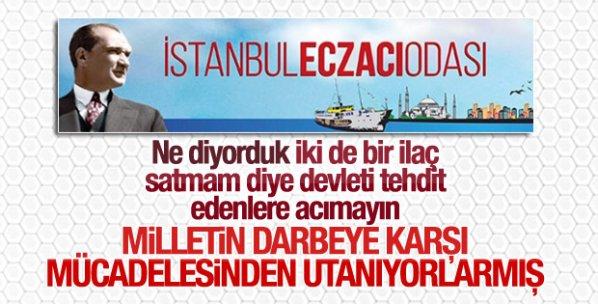 İstanbul Eczacı Odası'ndan skandal bildiri