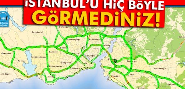 İstanbul'da trafik yoğunluğu yüzde 6'ya kadar düştü