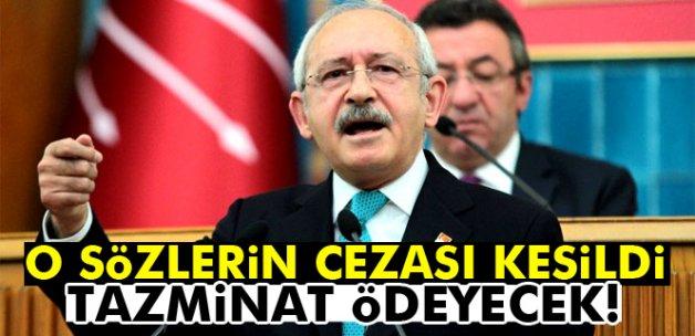 Kılıçdaroğlu, Cumhurbaşkanı Erdoğan'a 50 bin lira tazminat ödeyecek