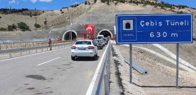 Malatya'da Çebiş Tüneli trafiğe açıldı