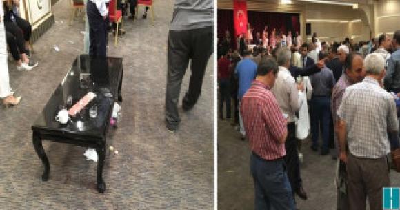 Meral Akşener'in bayramlaşma yaptığı otelde olay çıktı