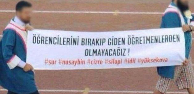 Mezuniyet töreninde PKK propagandası