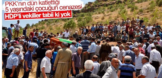 PKK saldırısında ölen çocuklar toprağa verildi