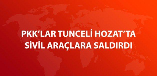 PKK, Tunceli Hozat'ta Erzak Taşıyan Kamyon ve Yakıt Tankerine Saldırdı