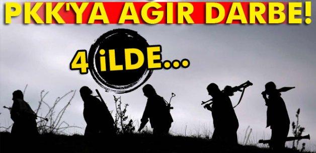PKK'ya ağır darbe! 4 ilde...