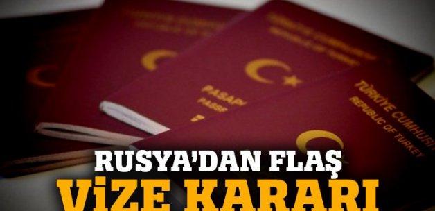 Rusya'dan flaş vize kararı