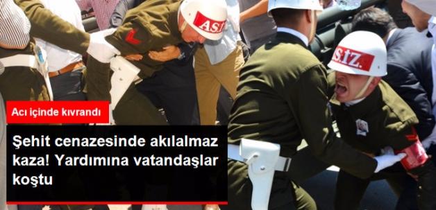Şehit Cenazesinde Akılalmaz Kaza!