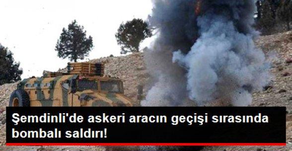 Şemdinli'de Askeri Aracın Geçişi Sırasında Patlama: 2 Asker Yaralı!