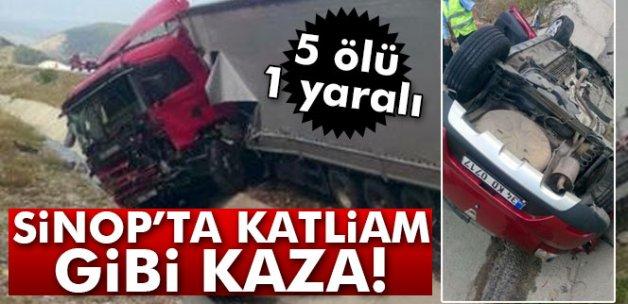 Sinop'ta katliam gibi kaza: 5 ölü, 1 yaralı
