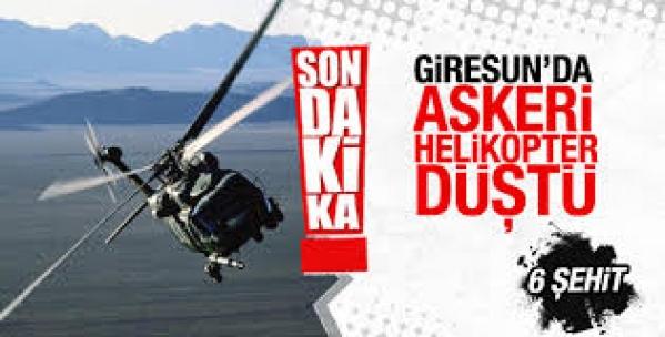 Son dakika haberi: Giresun'da askeri helikopter düştü 2 Albay şehit!